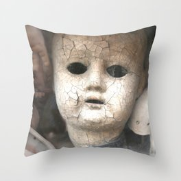 Old Dolls Throw Pillow