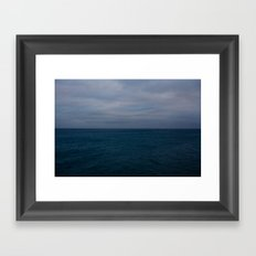 Looking out from Brighton Pier. Framed Art Print
