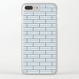Light Blue Bricks on a Grey Background Clear iPhone Case
