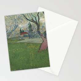 Orchards in blossom, view of Arles by Vincent Van Gogh Stationery Cards