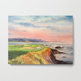 Pebble Beach Golf Course Hole 7 Metal Print