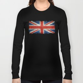British flag of the UK, retro style Long Sleeve T-shirt