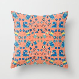 Sewing Symmetry Throw Pillow