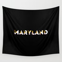 maryland Wall Tapestries featuring maryland pride by rachelgetz