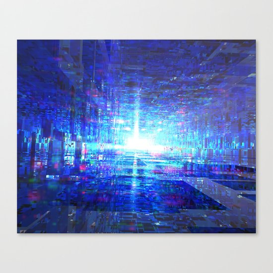Blue Reflecting Tunnel Canvas Print