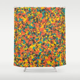Panelscape: colours from Space Filler Shower Curtain