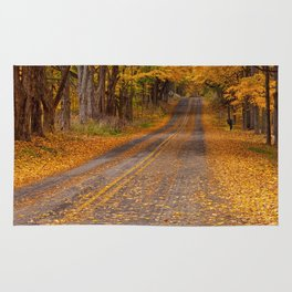 Fall Rural Country Road Rug