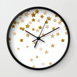 Falling Stars - Gold Marble Wall Clock