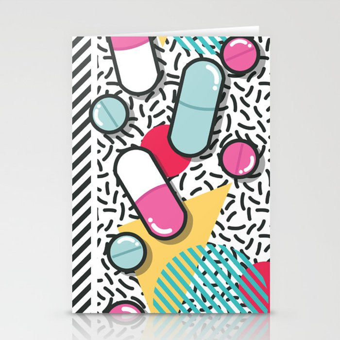 Pills pattern 018 Stationery Cards