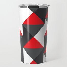 Geometric Pattern #20 (red triangles) Travel Mug