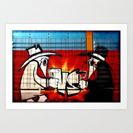 Spy vs Spy Art Print