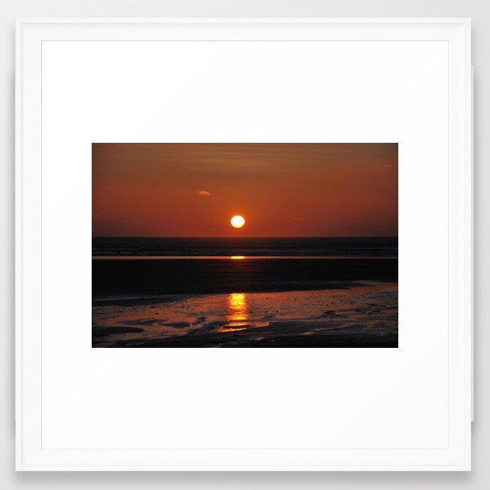 sunset over Saunton Framed Art Print