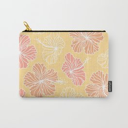 Mustard Hibiscus Carry-All Pouch