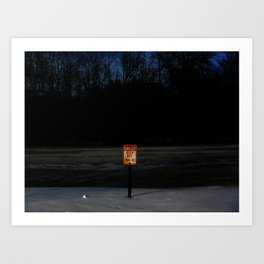 The Ice Be Thin Art Print