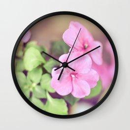 Soft Pinkness Wall Clock