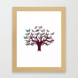Butterflies tree Framed Art Print