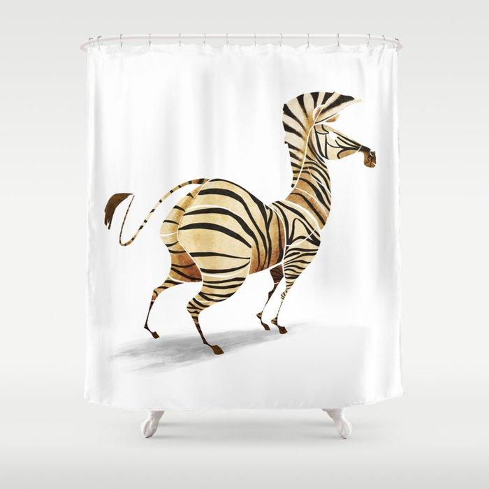 Zebra Shower Curtain By Saeiarts