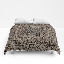 Circle of Life Mandala Brown Comforters