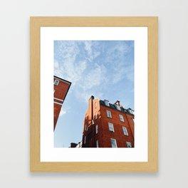 Classic London Brick House Framed Art Print