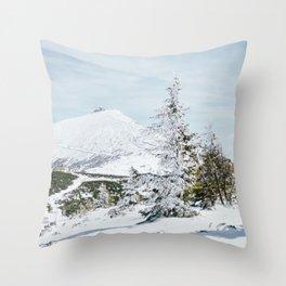 Sniezka Winter Mountains Throw Pillow