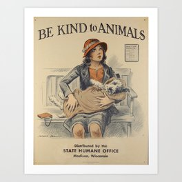 Be Kind To Animals 4 Art Print