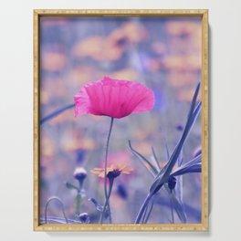 Soft Poppy Art Serving Tray