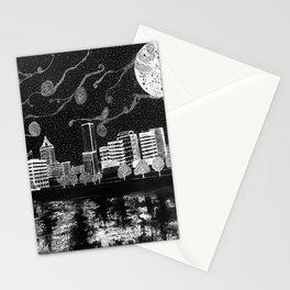 Portland Oregon Skyline Stationery Cards