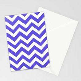 Majorelle blue - blue color - Zigzag Chevron Pattern Stationery Cards