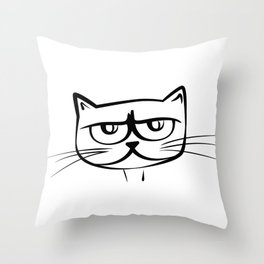 Big eyes cat Throw Pillow