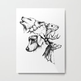 Moony Wormtail Padfoot Prongs Metal Print