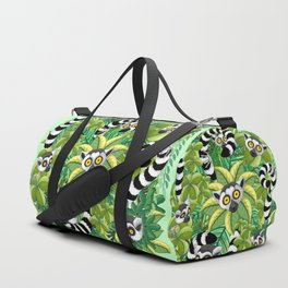 Lemurs on Madagascar Rainforest Duffle Bag