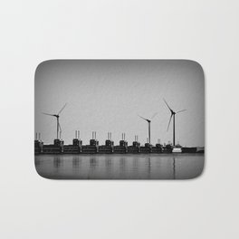 Turbines by the sea Bath Mat