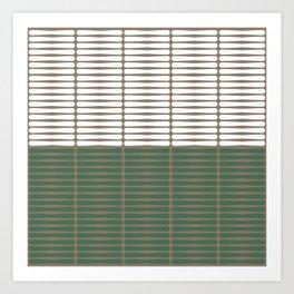 gomila (green/white) Art Print