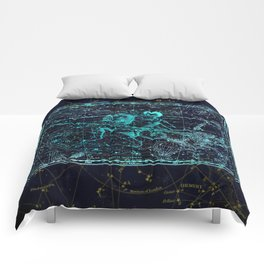 Aquarius, Constellation map, Zodiac, Sign sky, Stars, Universe, astrology, astrological Comforters