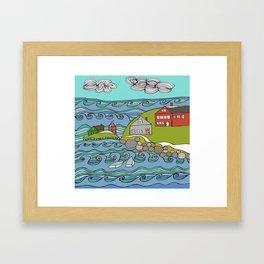 View from Casco Bay Framed Art Print