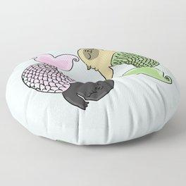 Merpug aka pisces pug! Floor Pillow