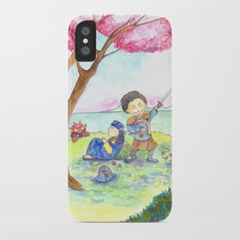 Two samurais on the hill iPhone Case
