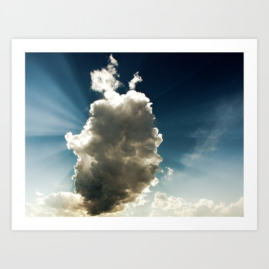 Sun Hidden by Cloud Art Print