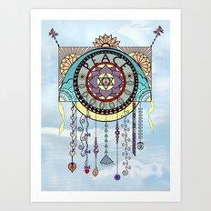 Peace Kite Dangle Art Print