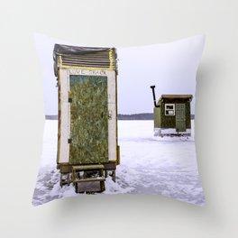 Love Shack on Ice Throw Pillow