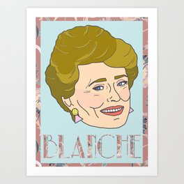 Blanche Portrait Art Print