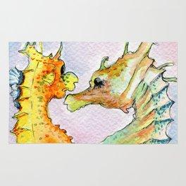 Seahorse Love Rug