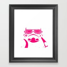 Pink Trooper Framed Art Print