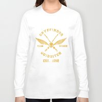 quidditch Long Sleeve T-shirts featuring Abercrombie & Quidditch by spacemonkeydr