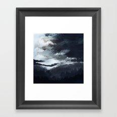 White mountains Framed Art Print