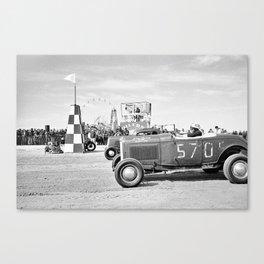 The Race of Gentlemen bw 15 Canvas Print
