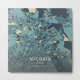 Nicosia, Cyprus - Cream Blue Metal Print