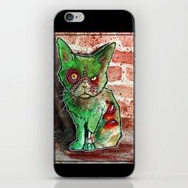 Mean Green Cute Zombie Cat iPhone Skin