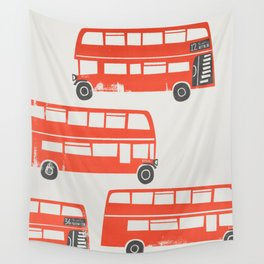 London Double Decker Red Bus Wall Tapestry