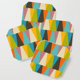 Retro Color Block Triangle Color Fun Coaster